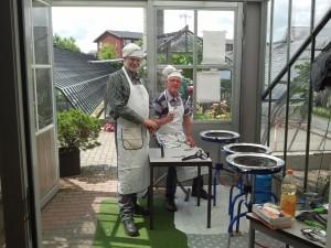 2016-06- Wim en Gerard klaar voor de start